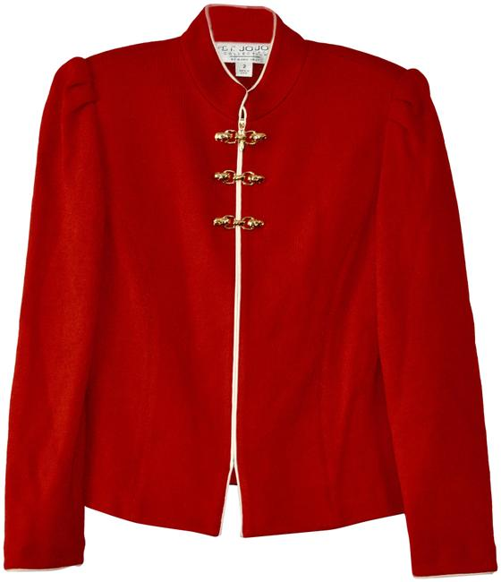 Item - Red Collection Knit By Marie Gray / Jacket Blazer Size 2 (XS)