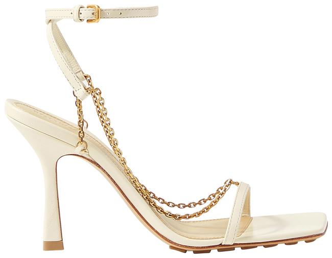 Item - Off-white Chain-embellished Leather Sandals Size EU 38 (Approx. US 8) Regular (M, B)