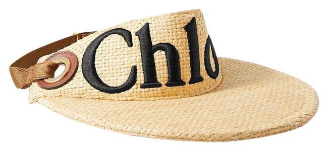 Item - Woody Leather-trimmed Embroidered Raffia Visor Hat