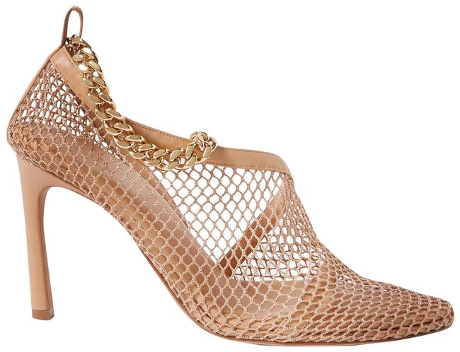 Item - Beige Chain-embellished Macramé and Leather Pumps Size EU 37.5 (Approx. US 7.5) Regular (M, B)