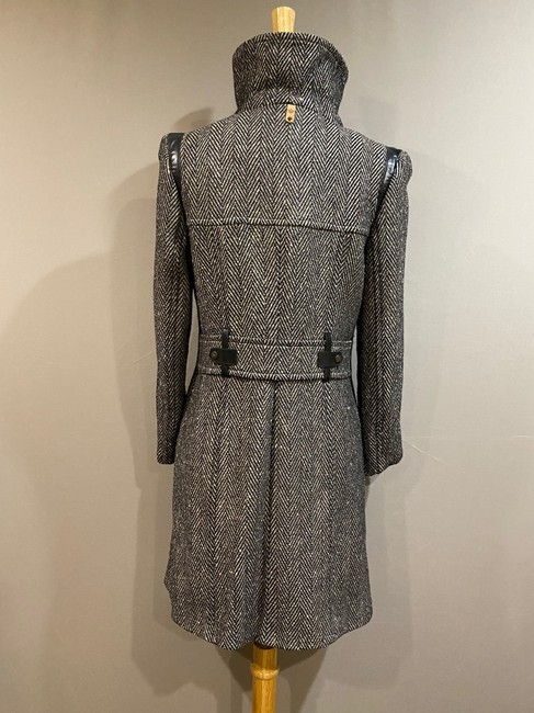 Mackage Black/Silver Women's Gray Wool with Leather Detailing Coat Size 2 (XS) Mackage Black/Silver Women's Gray Wool with Leather Detailing Coat Size 2 (XS) Image 4