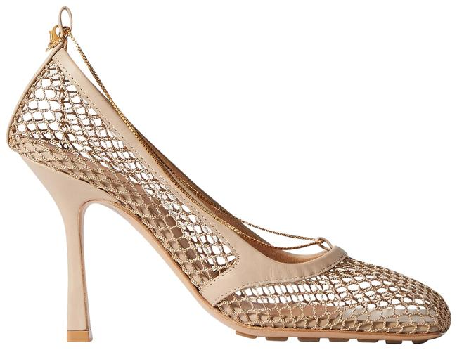 Item - Beige Chain-embellished Macramé and Leather Pumps Size EU 39.5 (Approx. US 9.5) Regular (M, B)