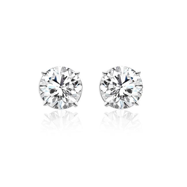 Item - 14k White Gold 1.70 Ct Tw Round Diamond Stud F-g Vs2 Earrings