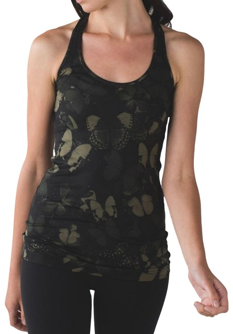 Item - Green Cool Racerback Biggie So Fly Butterfly Fatigue Black Activewear Top Size 4 (S)