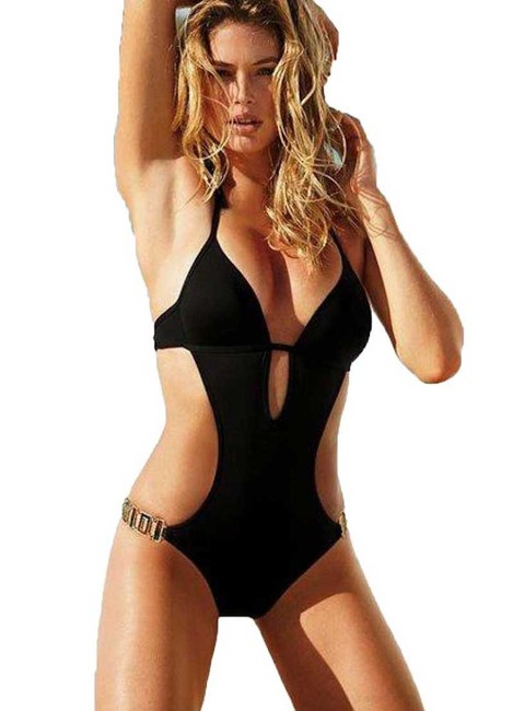 Item - Black Nwot Jewel Monokini - Retro Style Very Sexy One-piece Bathing Suit Size 16 (XL, Plus 0x)