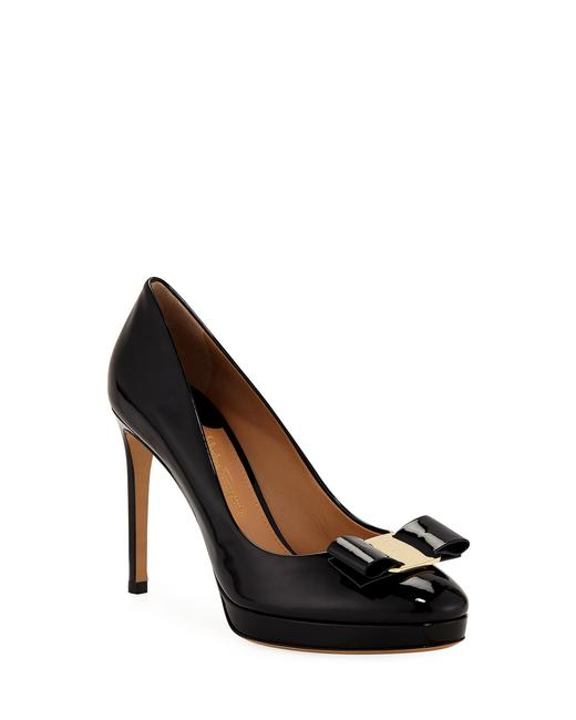 Item - Black Osimo Patent Vara Bow Pumps Size US 9 Regular (M, B)