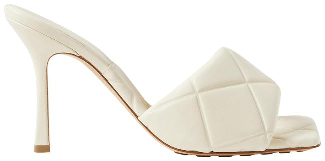 Item - Off-white Debossed Leather Mules/Slides Size EU 37 (Approx. US 7) Regular (M, B)
