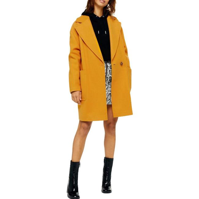 "Item - Mustard Carly Slouch Yellow Oversized Jacket Single Button 38"" Length Coat Size 12 (L)"