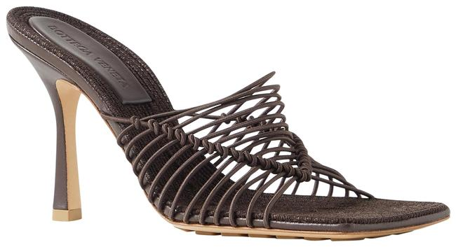 Item - Brown Knotted Cord and Raffia Mules/Slides Size EU 38 (Approx. US 8) Regular (M, B)