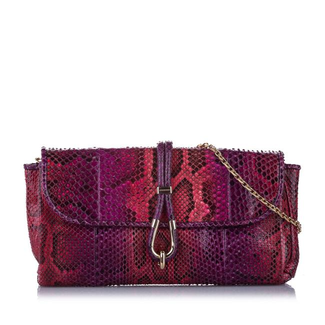 Item - Purple Leather Shoulder Bag