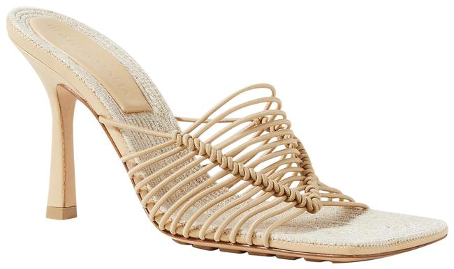 Item - Sand Knotted Cord and Raffia Mules/Slides Size EU 38.5 (Approx. US 8.5) Regular (M, B)