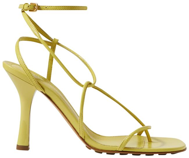 Item - Yellow Leather Sandals Size EU 40 (Approx. US 10) Regular (M, B)