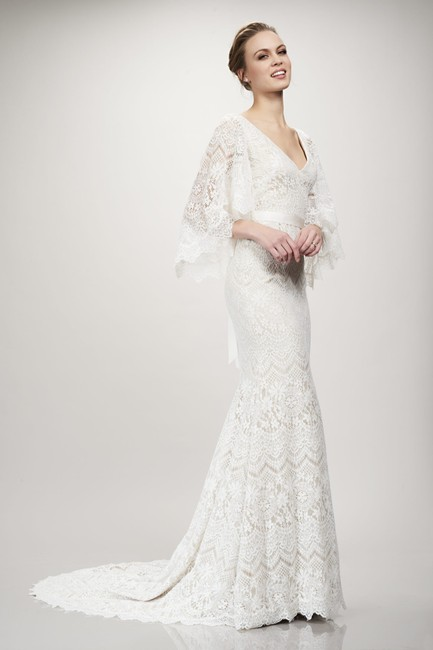 Item - Ivory Lace Sandy 890453 Feminine Wedding Dress Size 8 (M)