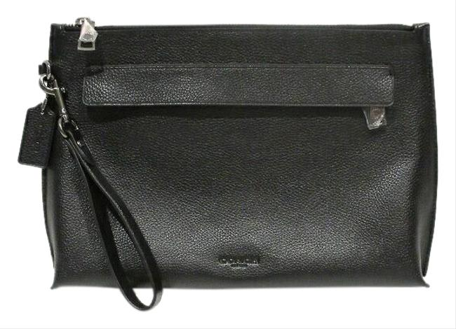 Item - F28614 Second Men's Black Leather Clutch