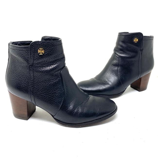 Item - Black Leather Ankle Boots/Booties Size US 7 Regular (M, B)