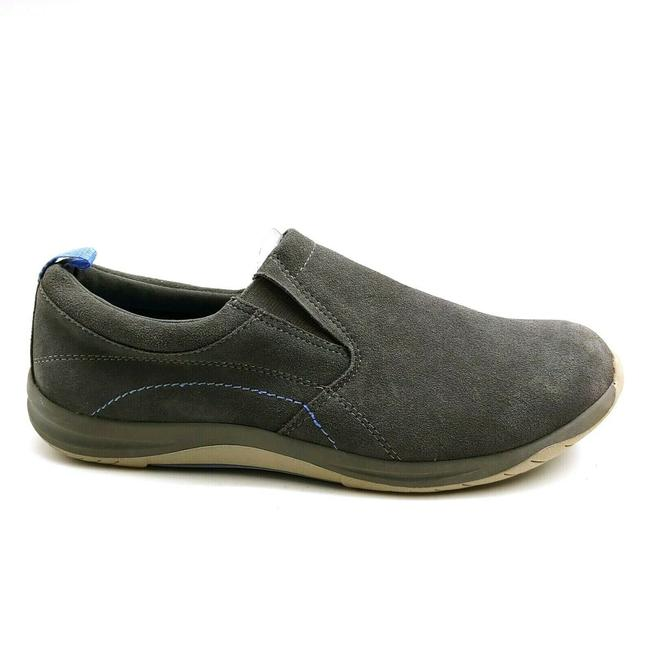 Item - Gray Womens Solid Suede Comfort Slip On 459832 Iron 1 Flats Size US 10 Regular (M, B)