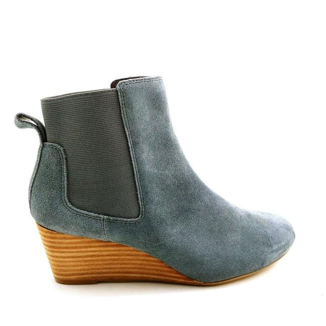 Item - Blue Gray Womens 501808 Suede Wedge Chelsea Iron 6b Boots/Booties Size US 6 Regular (M, B)