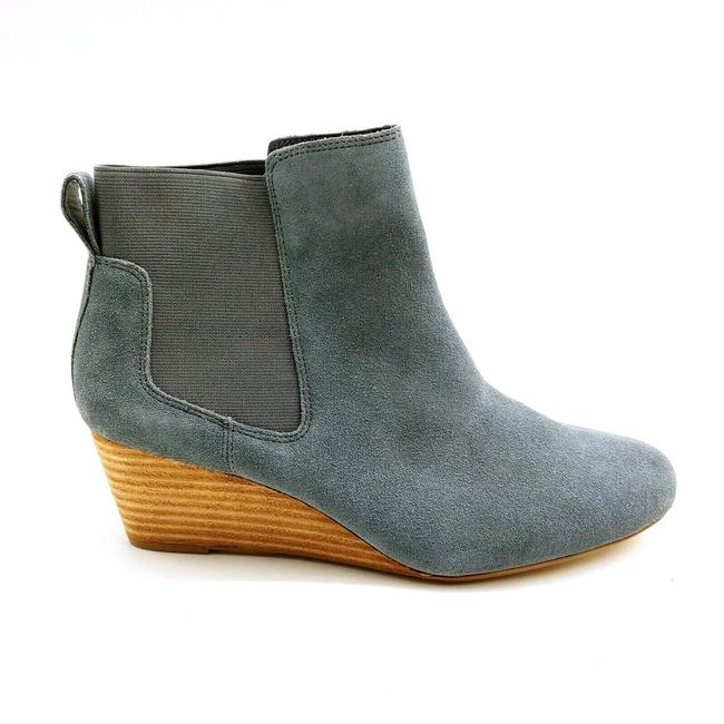 Item - Blue Gray Womens 501808 Suede Wedge Chelsea Iron 9.5b Boots/Booties Size US 9.5 Regular (M, B)