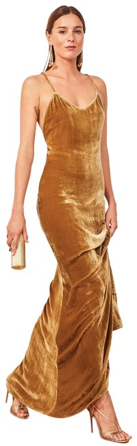 Item - Gold Rimini Long Formal Dress Size 2 (XS)