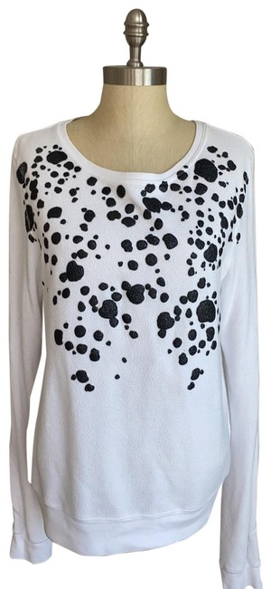 Item - Black Cow Dot White Sweater