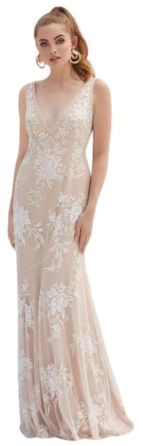 Item - Ivory New By Watters Mayer Embroidered Wedding Long Formal Dress Size 4 (S)