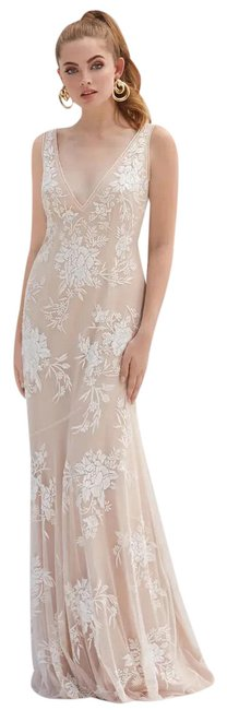 Item - White By Watters Mayer Embroidered Wedding Long Formal Dress Size 0 (XS)