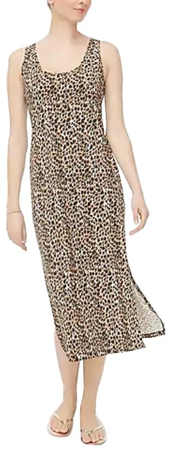 Item - Black Brown Leopard Print Midi Mid-length Casual Maxi Dress Size 2 (XS)