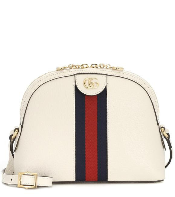 Item - Dome Ophidia White Leather Cross Body Bag