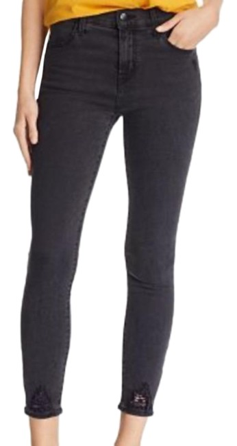 Item - Black Distressed Alana Hr Ankle Stretch In Bellatrix Destruct Skinny Jeans Size 27 (4, S)