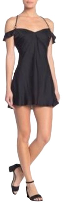 Item - Black L Mini What I Want Satin Short Cocktail Dress Size 12 (L)