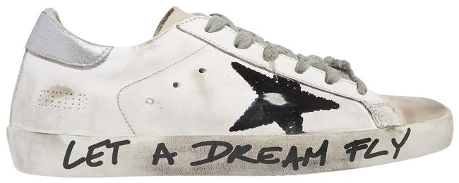 Item - White Superstar Distressed Printed Leather Sneakers Size EU 39 (Approx. US 9) Regular (M, B)