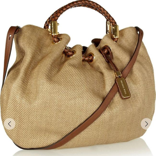 Item - Collection Skorpios Canvas Ring Tote Brown Hobo Bag