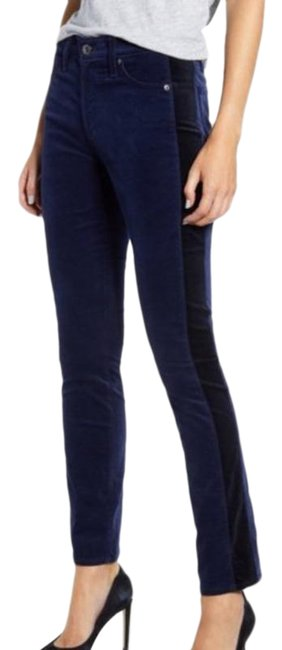 Item - Blue Mari Tuxedo Stripe Straight Leg Jeans Size 25 (2, XS)
