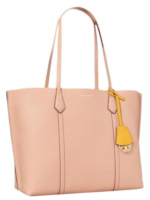 Item - Perry Triple-compartment Pink Moon Leather Tote