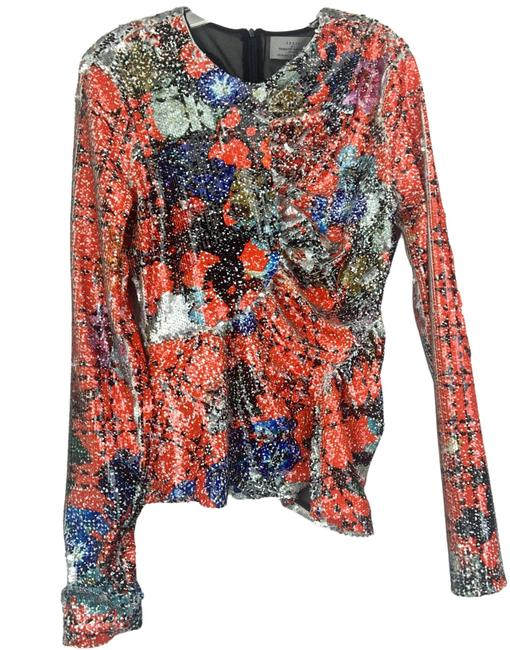 Item - Multiple L Abstract Print Blouse Size 14 (L)