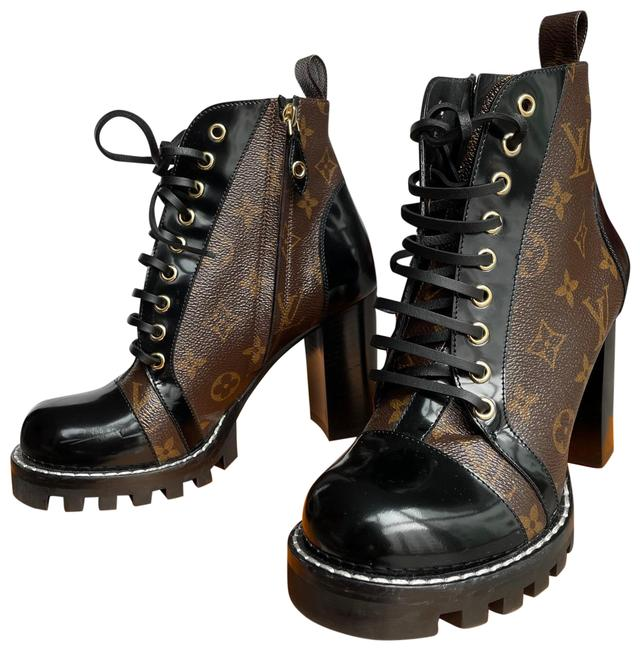 Item - Black and Brown Star Trail Ankle Book Boots/Booties Size EU 38.5 (Approx. US 8.5) Regular (M, B)