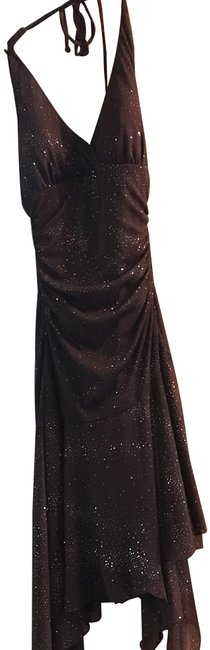 Item - Brown 9530-q230 Mid-length Cocktail Dress Size 4 (S)
