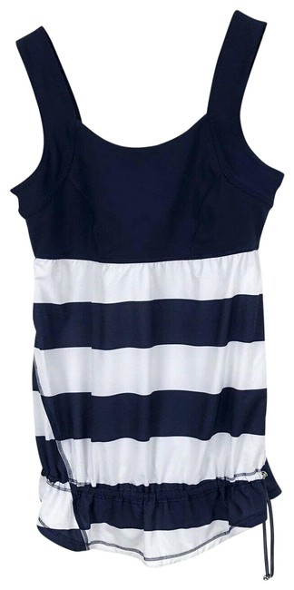 Item - Run Chase Me Navy White Stripe Activewear Top Size 6 (S)