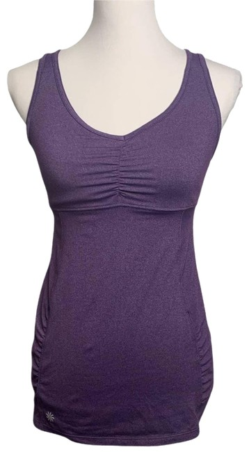 Item - Purple XS Tree Of Life Ruched Tunic Activewear Top Size 2 (XS)