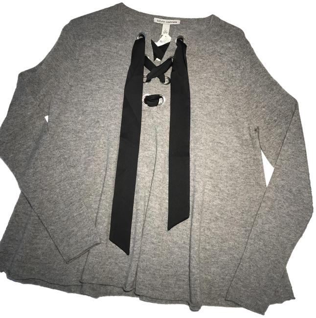 Item - Lace Up Flare Gray Sweater