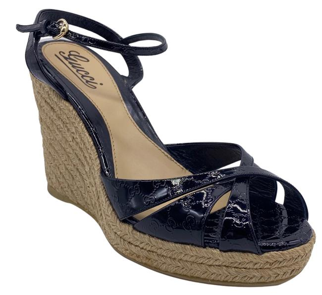 Item - Black / Tan Penelope Wedges Size US 9.5 Regular (M, B)