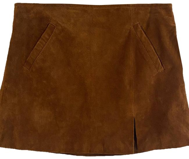 Item - Brown Spice Suede Leather New with Tags Skirt Size 10 (M, 31)