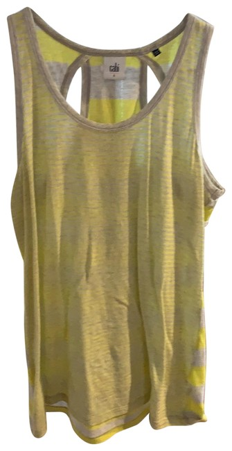 Item - Yellow and Grey 5065 Tank Top/Cami Size 6 (S)