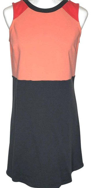 Item - Pink Vera Colorblock Coral 6l Short Casual Dress Size 6 (S)