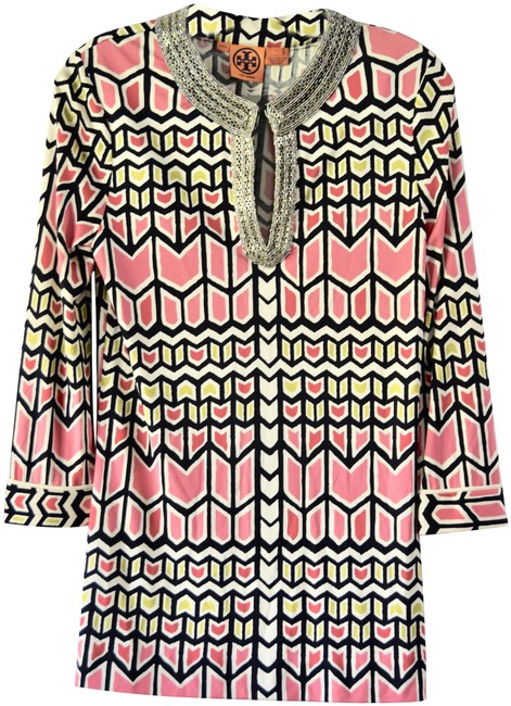 Item - Multicolor Geometric Pullover Blouse/Dress Small Tunic Size 4 (S)