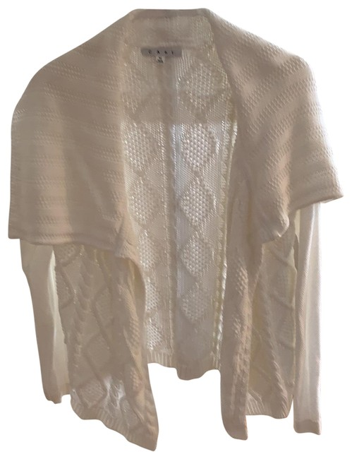 Item - White Cable Cardigan Size 8 (M)