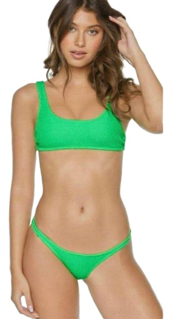 Item - Green Kiwi Reef Ring Halter Bikini Set Size 4 (S)