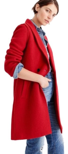 Item - Red Daphne Topcoat In Boiled Wool Coat Size 8 (M)