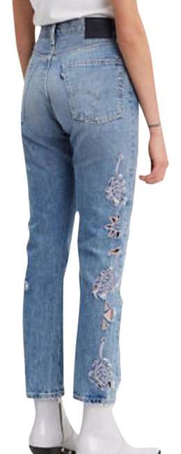 Item - Blue Light Wash And Crafted Style: 501 Fit Straight Leg Jeans Size 26 (2, XS)