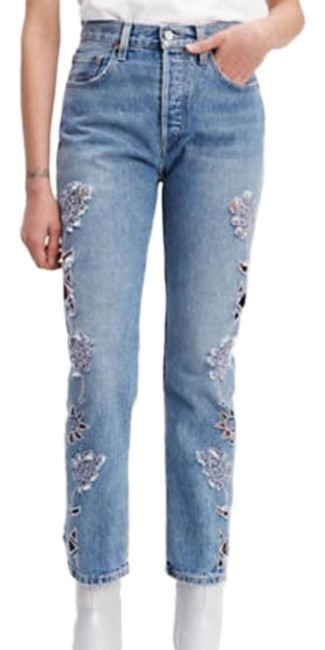 Item - Blue Light Wash And Crafted Style: 501 Fit Straight Leg Jeans Size 8 (M, 29, 30)